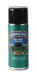 metaalverf - mat zwart - spuitbus - hammerite